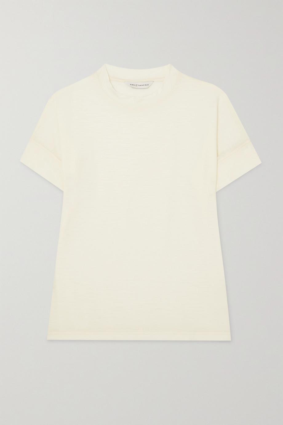 King & Tuckfield T-Shirt aus Merinowolle