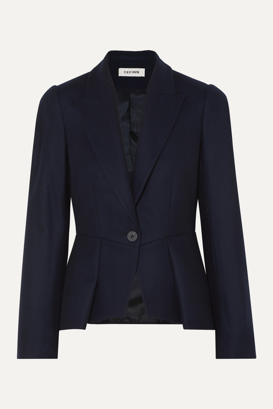 Cefinn Audrey pleated wool-blend blazer