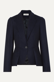 Cefinn Audrey pleated wool-blend blazer