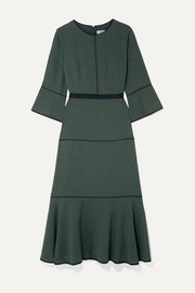 Cefinn Tyler grosgrain-trimmed voile midi dress