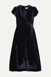 Cefinn Layla velvet wrap dress