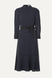 Cefinn Romy belted voile midi dress