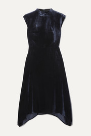 Cefinn Allegra asymmetric velvet midi dress