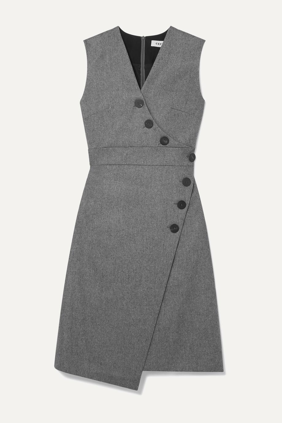 Cefinn Blake wrap-effect wool-blend dress
