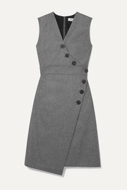 Cefinn Blake wrap-effect wool-blend dress