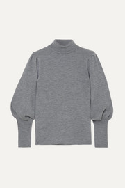 Eva ribbed wool turtleneck sweater