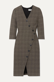 Cefinn Sofie Prince of Wales checked cotton-blend dress