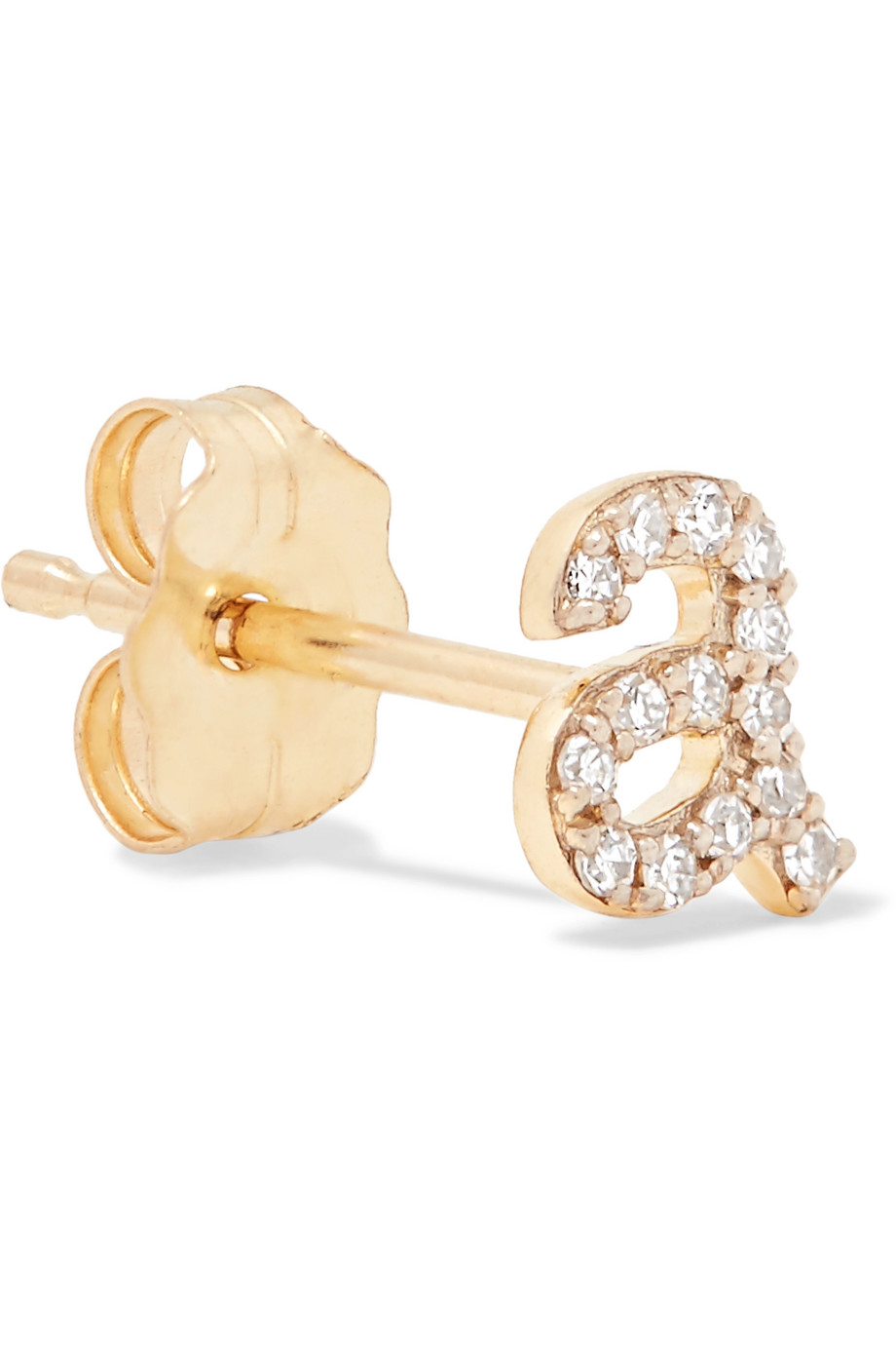 STONE AND STRAND Alphabet 14-karat gold diamond earring