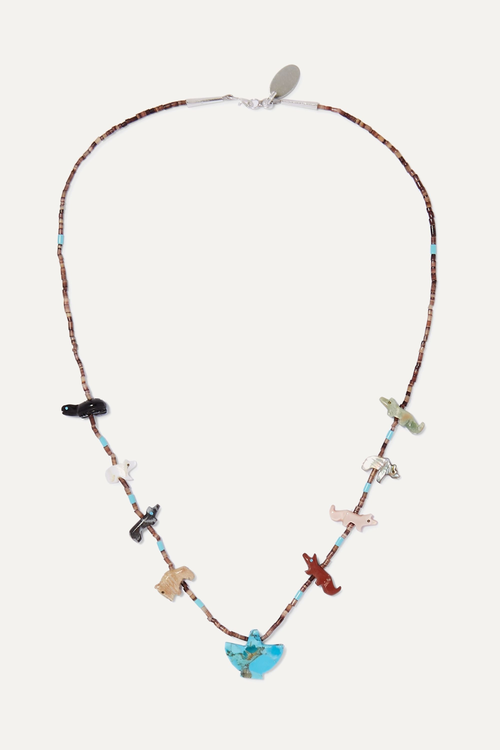 Jessie Western Power Animal multi-stone necklace