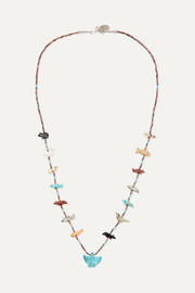 Power Animal silver multi-stone necklace