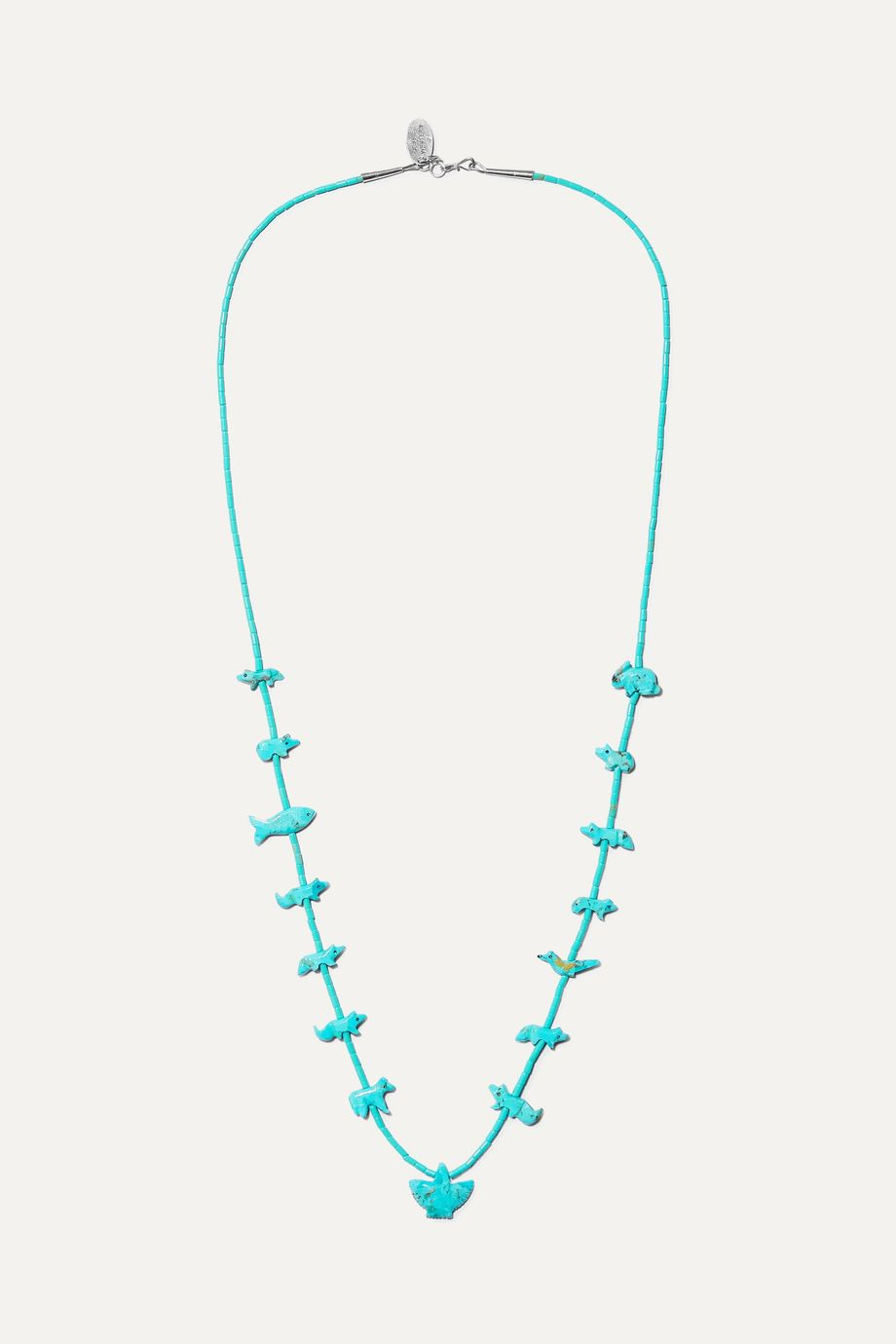 Jessie Western Turquoise and silver necklace