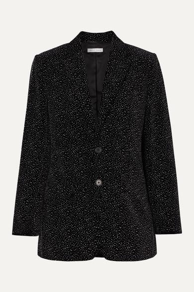 Bella Freud Blazers Allen oversized glittered cotton-velvet blazer