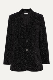 Allen oversized glittered cotton-velvet blazer