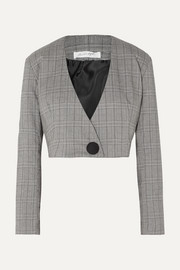 Ibina Prince of Wales checked woven jacket