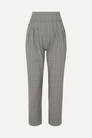 Ibina Prince of Wales checked woven pants
