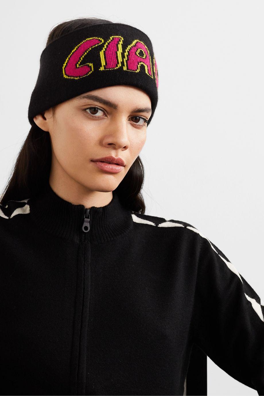Bella Freud Intarsia cashmere headband