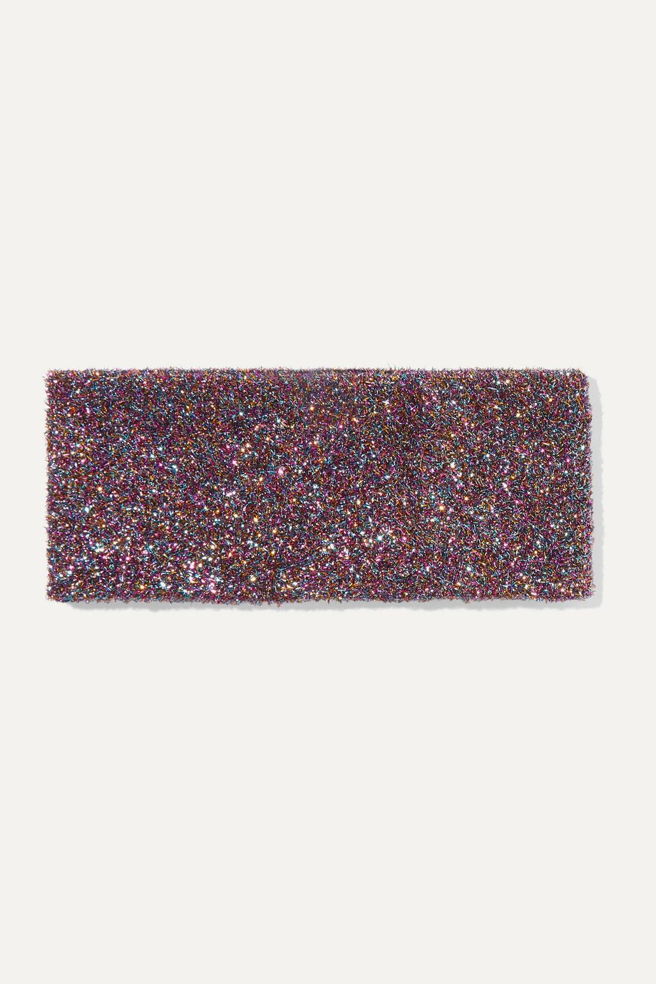 Bella Freud Teeny Bopper metallic knitted headband