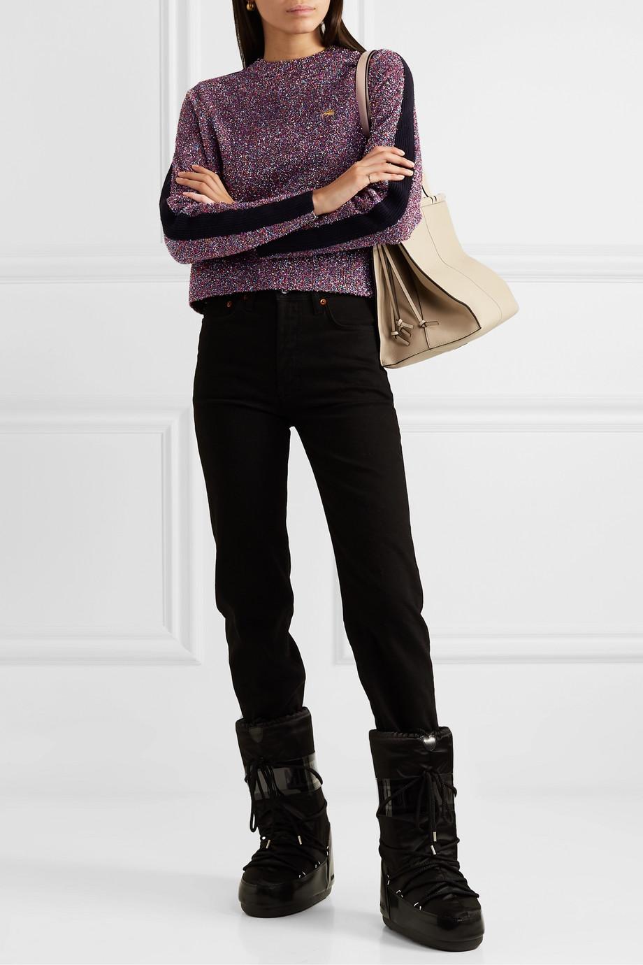 Bella Freud Teeny Bopper Pullover aus Strick in Metallic-Optik