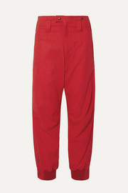TRE by Natalie Ratabesi The Ramses cotton-twill tapered pants