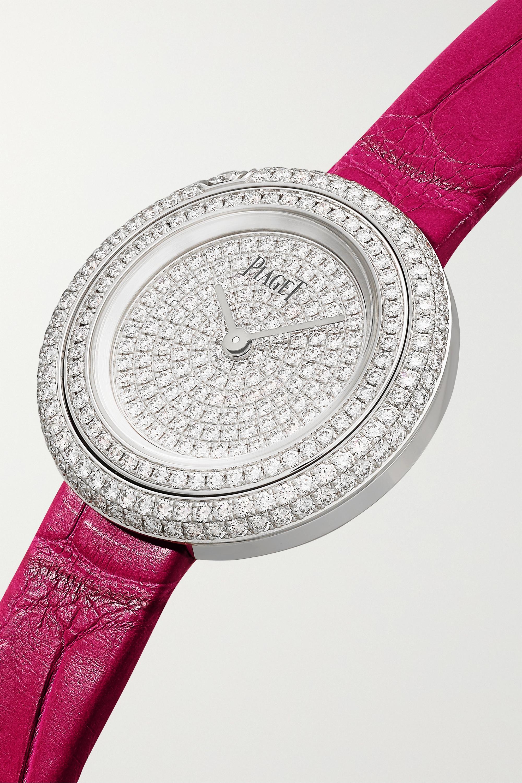 Piaget Montre en or blanc 18 carats et diamants à bracelet en alligator Possession 29 mm