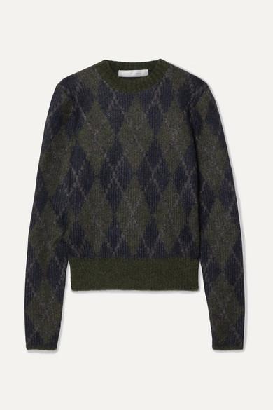 Argyle Mohair Blend Sweater by Victoria Beckham