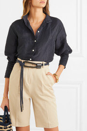 Kendra rope and leather waist belt
