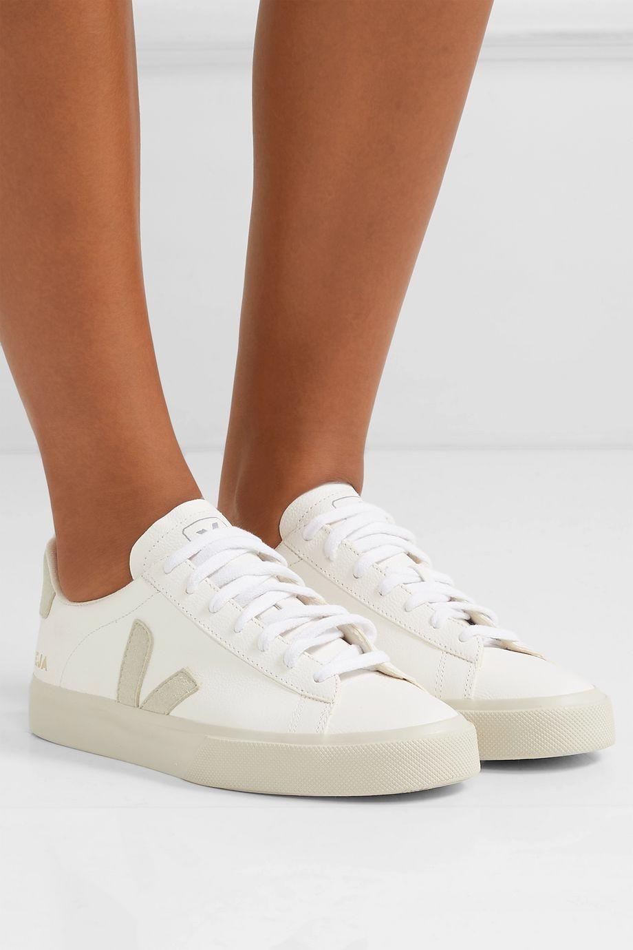 cliente Línea de visión Elegante  White + NET SUSTAIN Campo leather and vegan suede sneakers | Veja ...