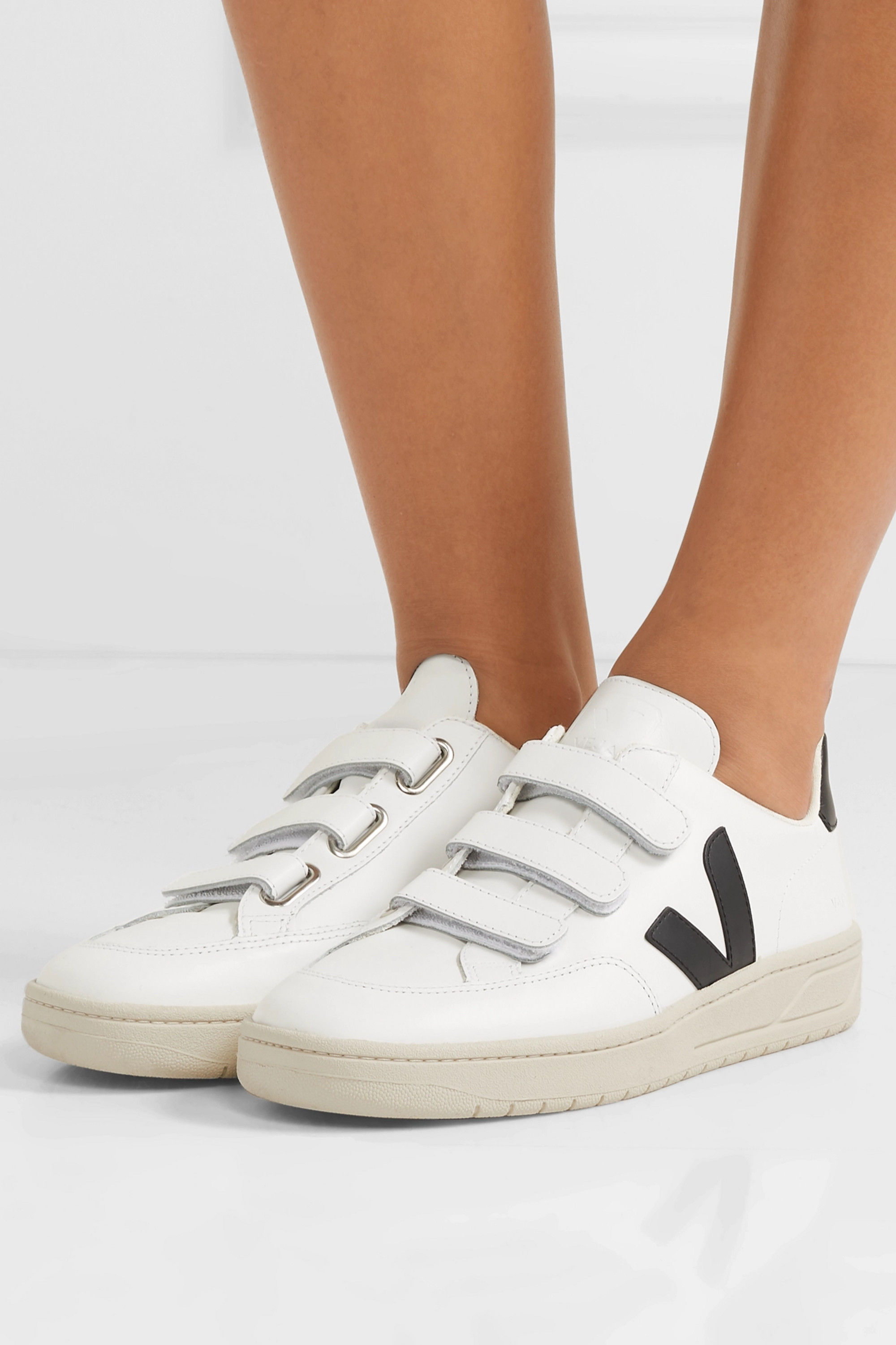 Veja + NET SUSTAIN V-Lock leather sneakers