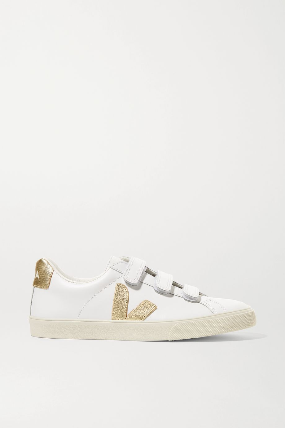 Veja + NET SUSTAIN 3-Lock Logo metallic-trimmed leather sneakers