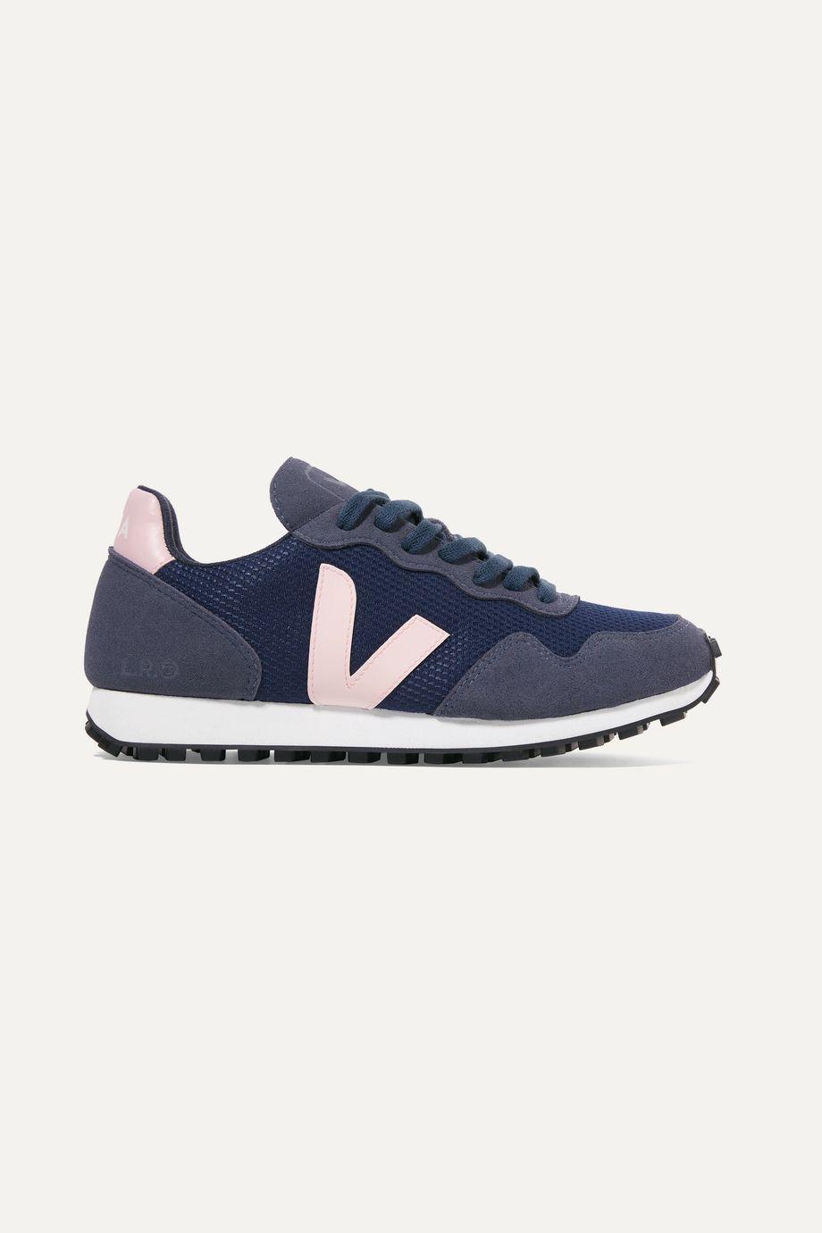 Veja + NET SUSTAIN SDU REC vegan suede and mesh sneakers