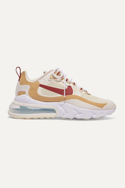 Nike Air Max 270 React neoprene and faux leather sneakers