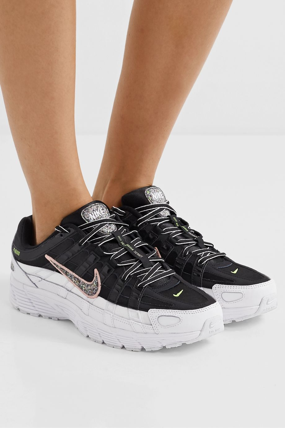 Nike P-6000 SE leather and mesh sneakers