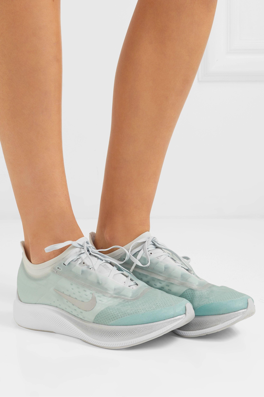 Sky blue Zoom Fly 3 mesh sneakers