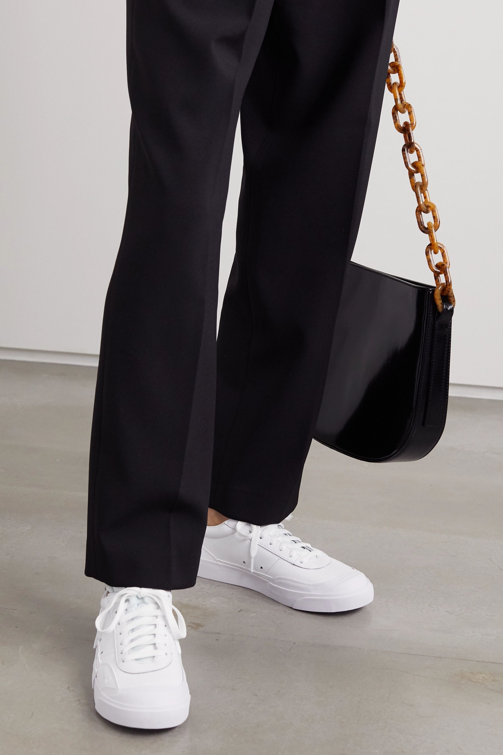 rubber-trimmed leather sneakers | Nike