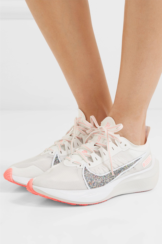 Zoom Gravity glittered mesh sneakers