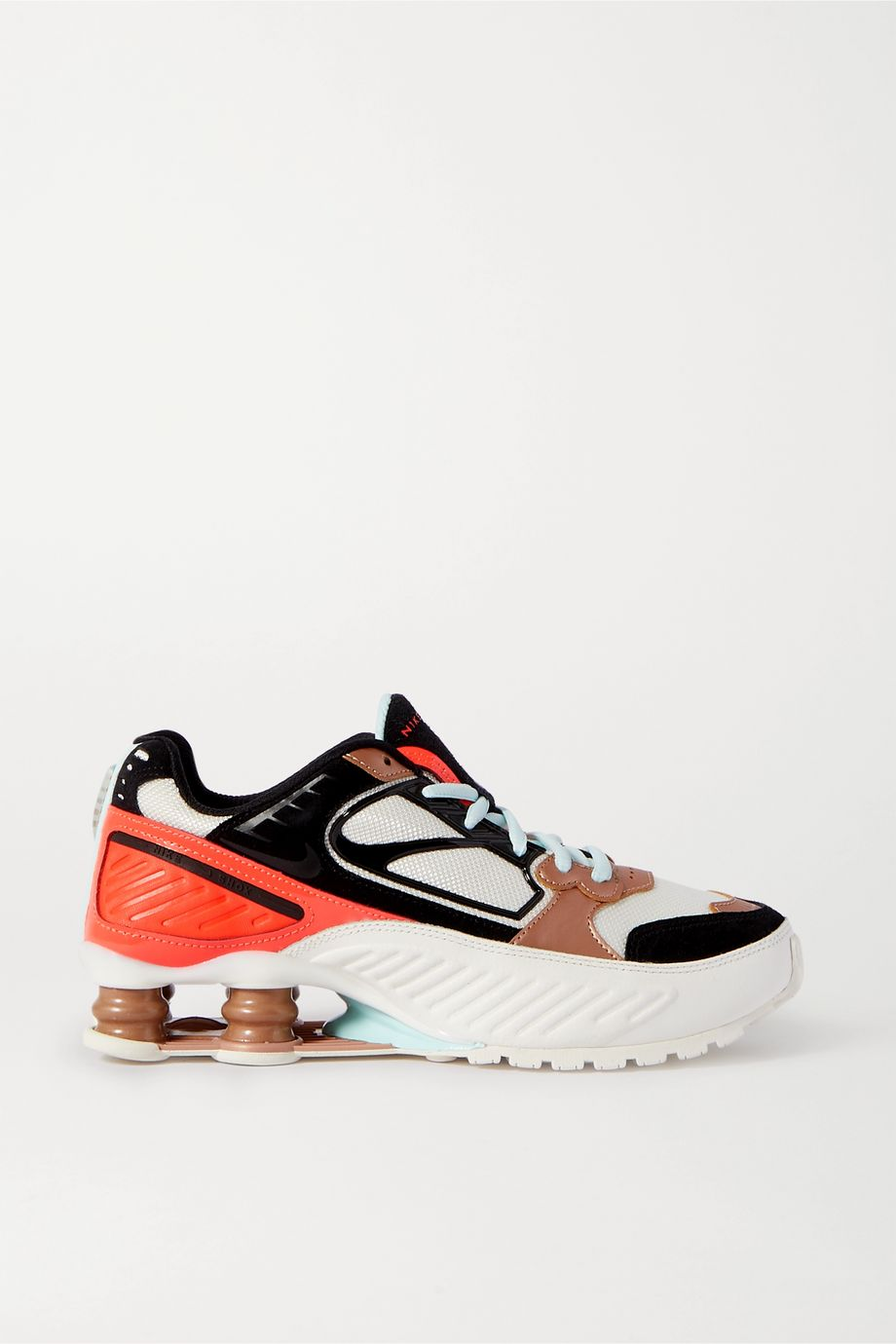 Nike Shox Enigma 9000 leather, suede and mesh sneakers