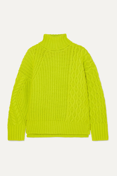 Cable Knit Sweater Neon