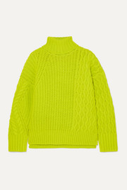 Alto neon cable-knit wool-blend sweater
