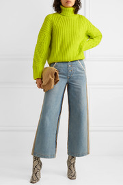 Andersson Bell Alto neon cable-knit wool-blend sweater