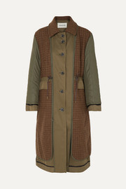 Andersson Bell Khloe reversible twill, wool-blend and shell trench coat