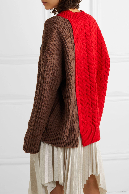 Andersson Bell Pull oversize en laine mélangée color-block