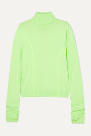 Andersson Bell Neon knitted turtleneck sweater