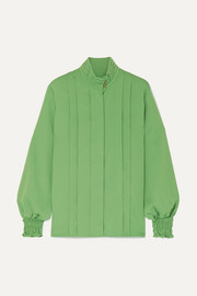 Andersson Bell Katie layered pintucked crepe blouse