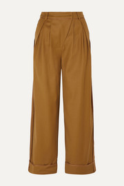 Andersson Bell Daria pleated wool-blend wide-leg pants
