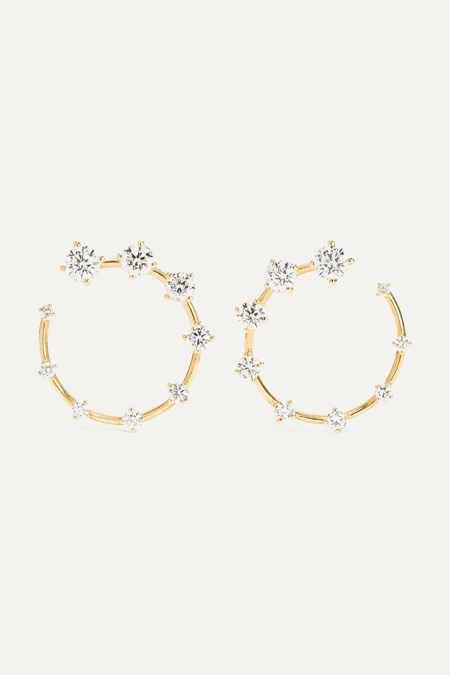 Fernando Jorge Circle kleine Ohrringe aus 18 Karat Gold mit Diamanten