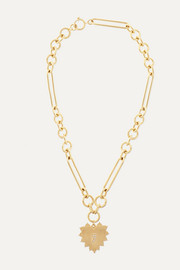 Heart 18-karat gold diamond necklace