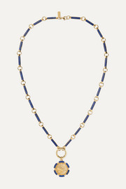 Air 18-karat gold lapis lazuli necklace