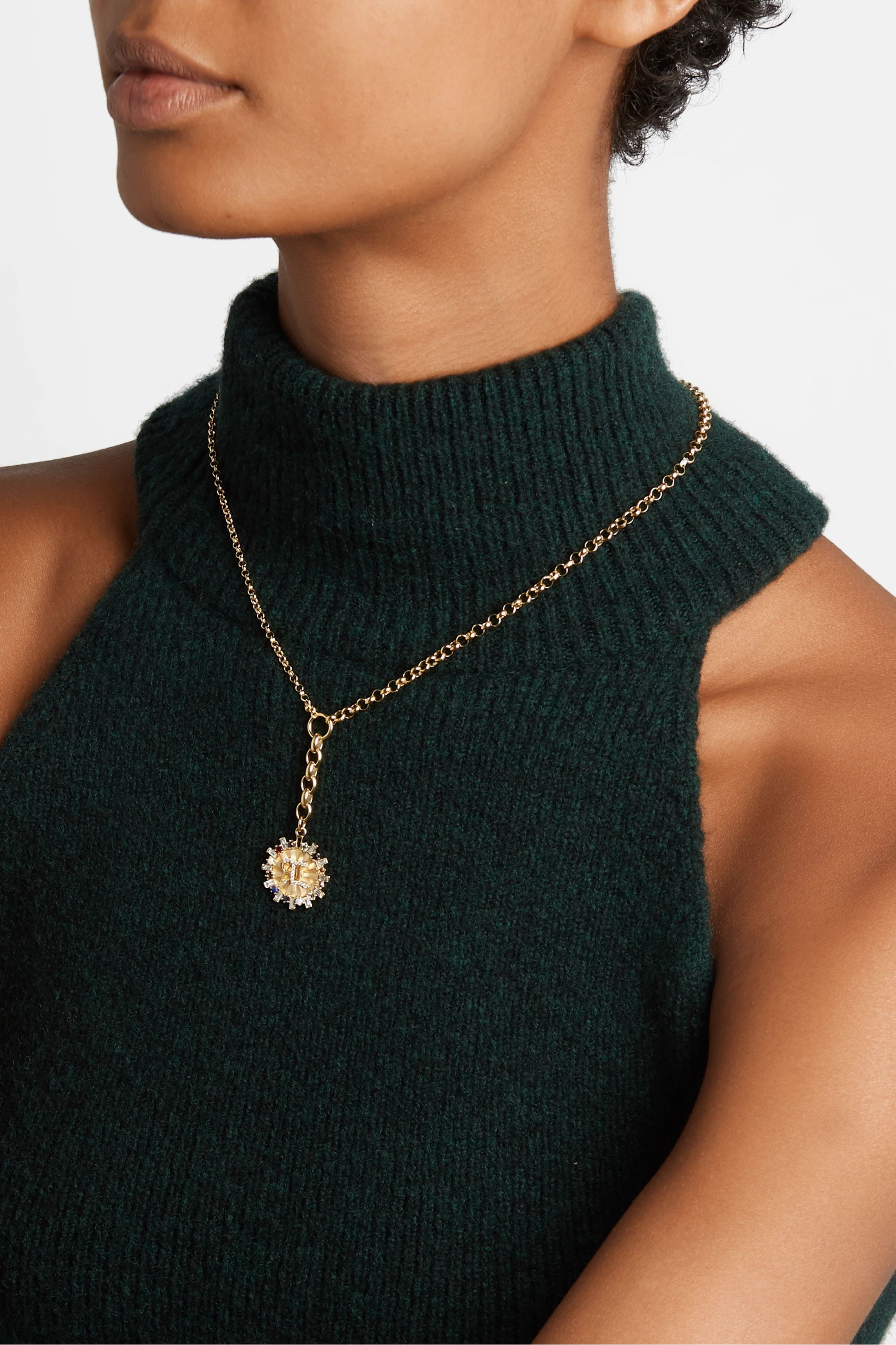 Foundrae Aether 18-karat gold multi-stone necklace