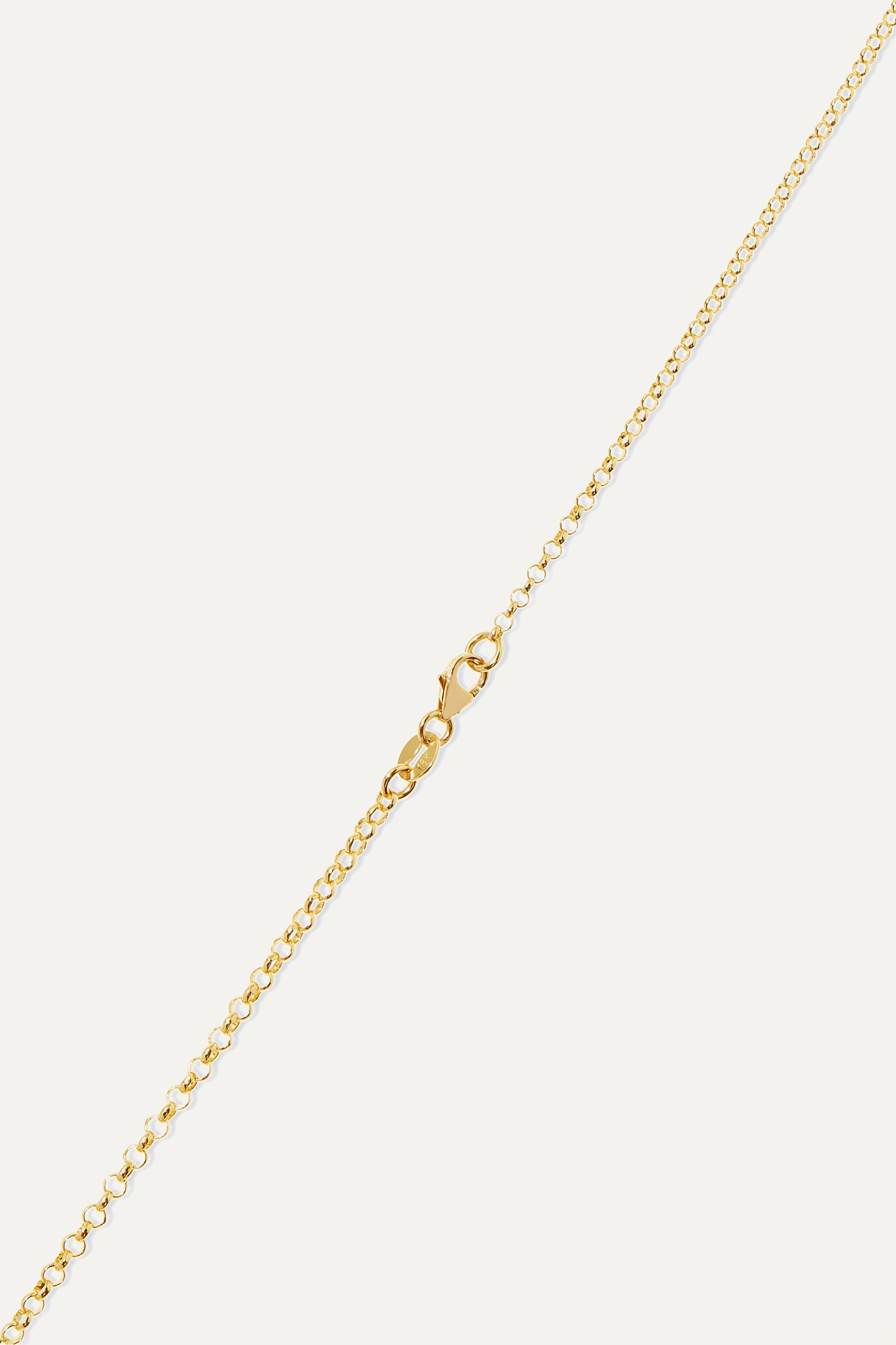 Foundrae Water 18-karat yellow and white gold necklace