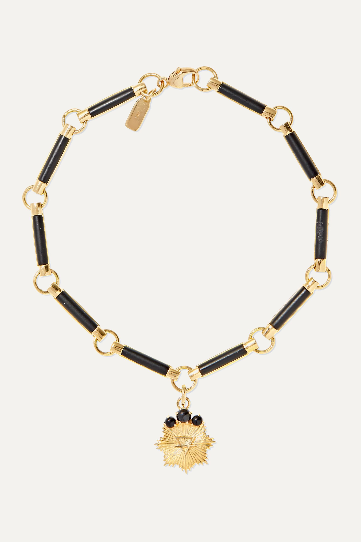 Foundrae Earth 18-karat gold onyx bracelet
